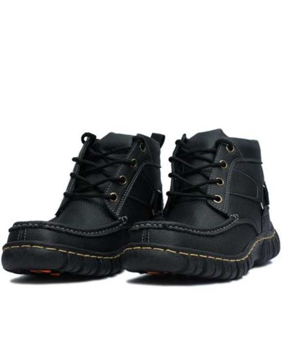 Black Casual High-Top Boots for Men