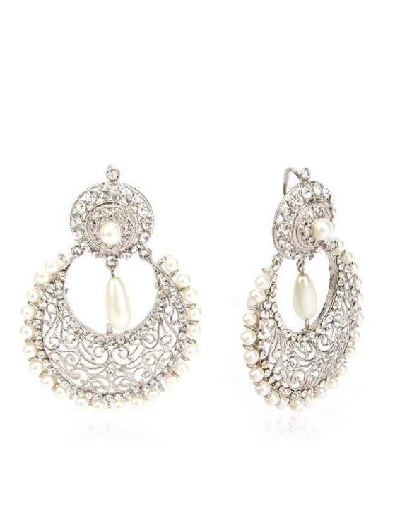 Silver Stylish Earrings JP-1347
