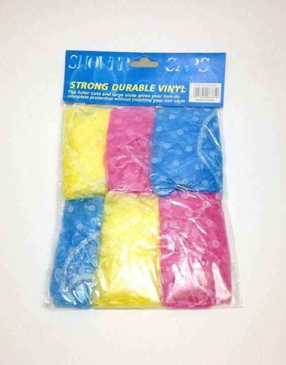 Shower Caps Pack Of 6Pcs