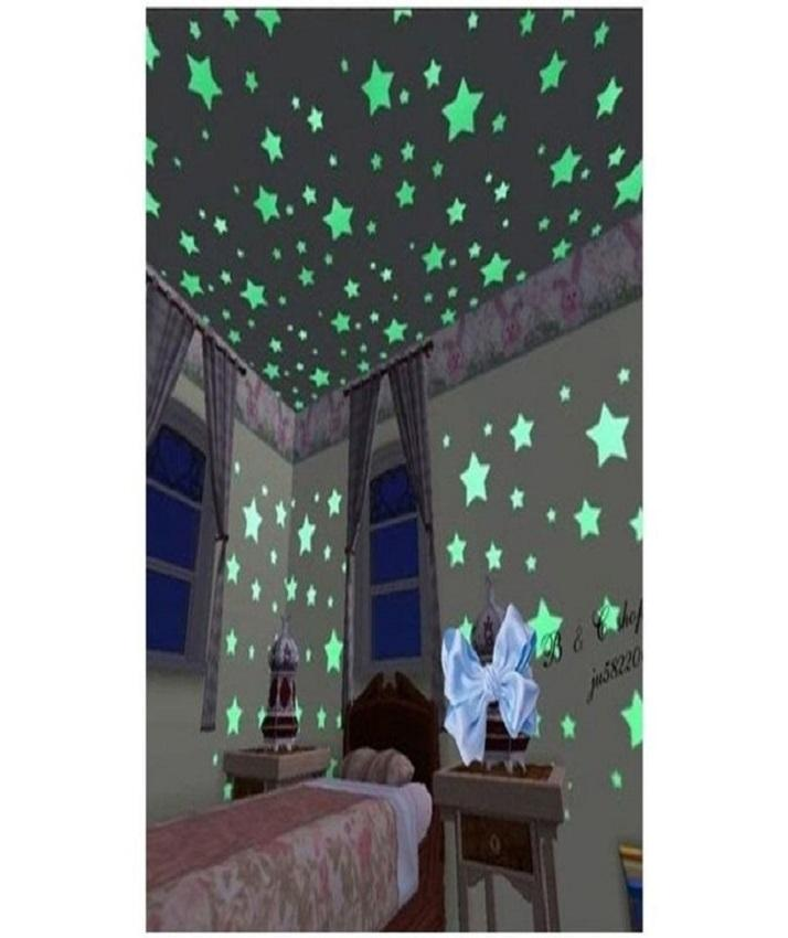 Fluorescent Night Glowing Stars Wall Stickers