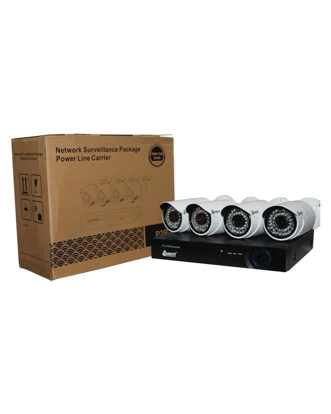 SAN22913P104CK - 4 Channel 1 MP PLC CCTV Camera Kit - White