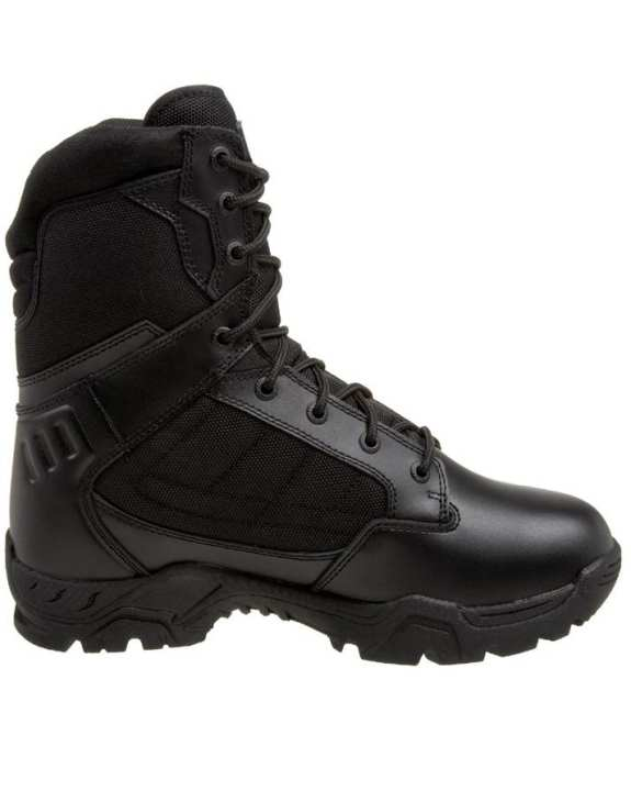 Delta Black Leather Trekking Boots For Men