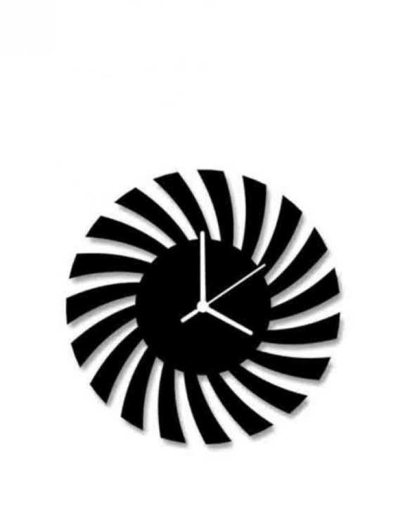 Designer Wall Clock - Black