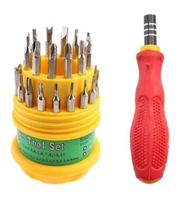 31 in 1 Screw Driver Kit - Magnetic - Yellow & Red