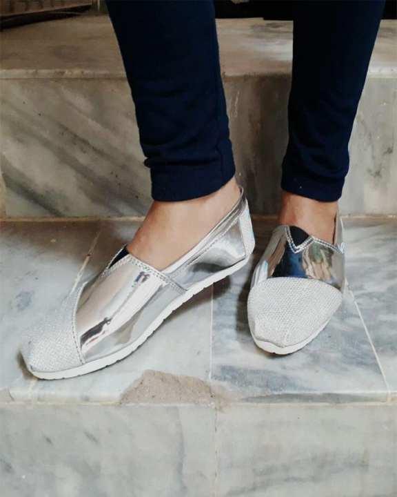 Silver Rexine Lifestyle Shoes - For Men