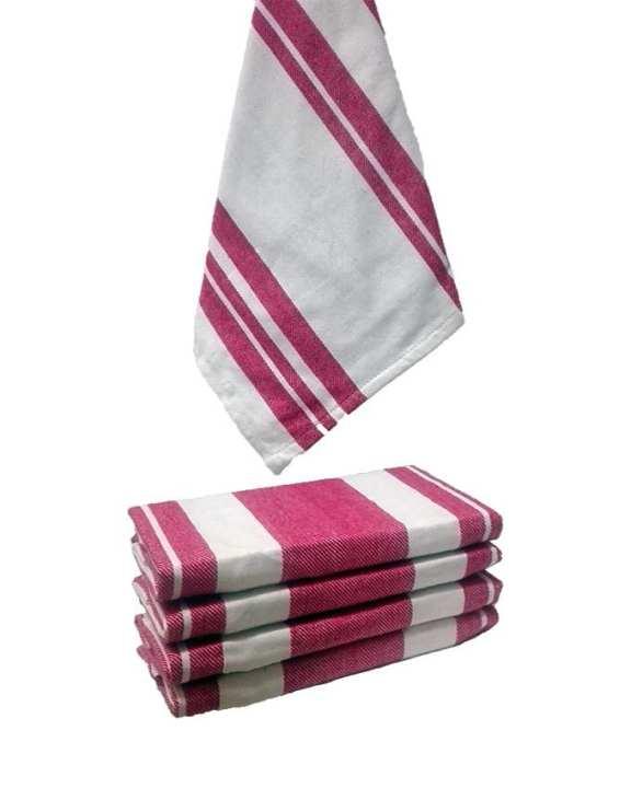 Red Cotton Kitchen Towels - 4 pcs