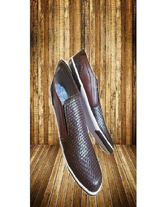 Brown Artificial Leather Slip On For Men