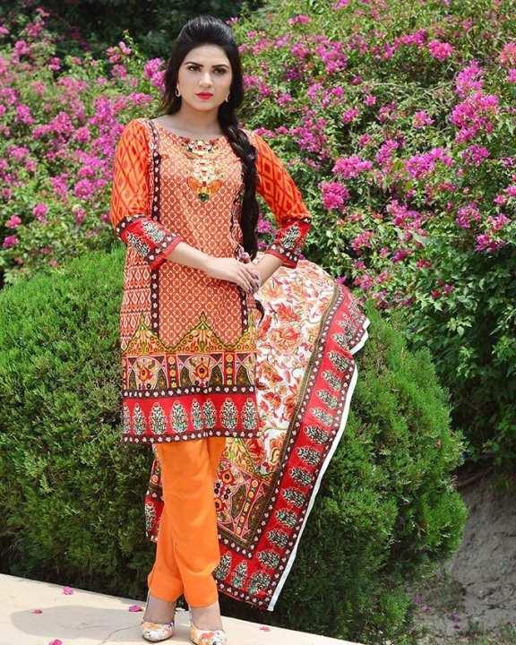 Unstitched Orange Sana Samia Net Collection