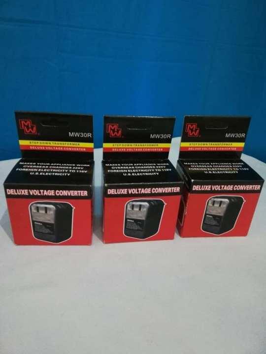 Pack of 3 - Voltage Converter - 220V To 110V 30 Watt