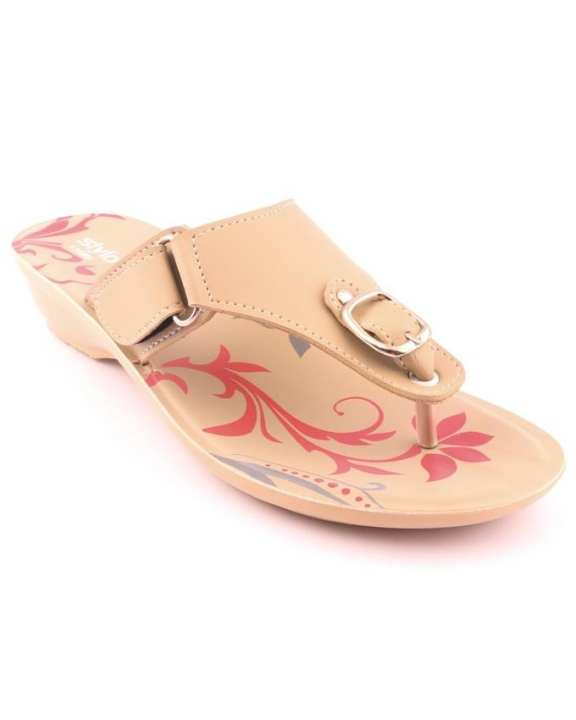 Fawn Synthetic Casual Chappal for Women