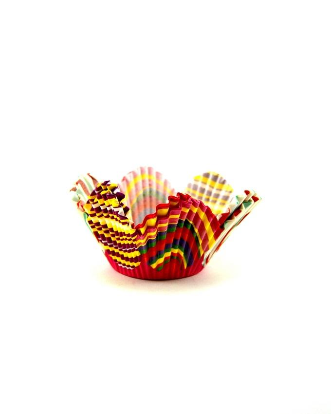 Cake Cups - 24 pieces - 2 inch diameter - Multi colour