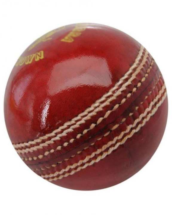Test Crown Cricket Hard Ball - Red