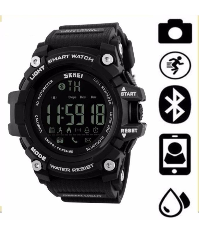d53ccd7f24 SK1227- Resin Smart Watch for Unsex - Black