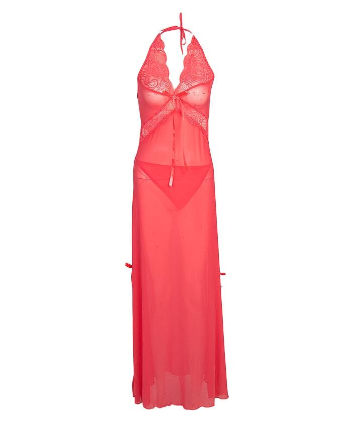 Rosy Pink Polyester Nightwear for Women - CL0073