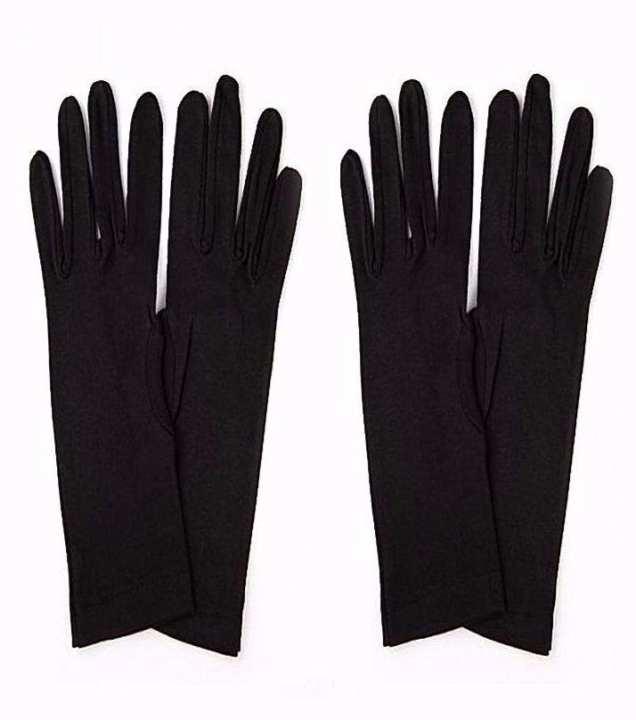Pack Of 2 - Summer Sun Block Long Gloves For Women - Black