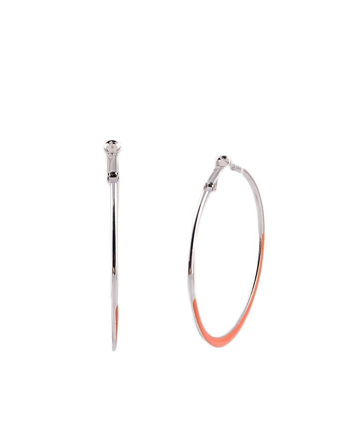 Orange Metal Round Shape Earrings for Women - RIZ-ER-14
