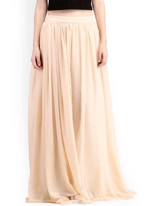 Beige Long Maxi Skirt For Women