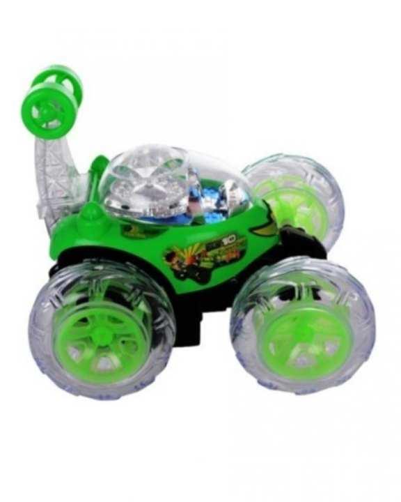 Remote Control Stunt Car - Green