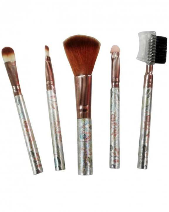 Pack of 5 - Makeup Brushes - Brown