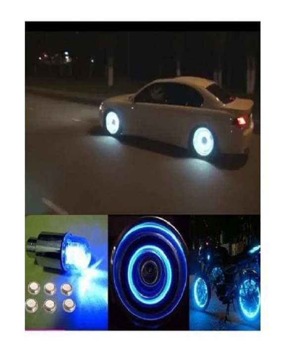 4 Pcs Cycle Bike Car Tyre Valve Cap Wheel Spokes LED Light