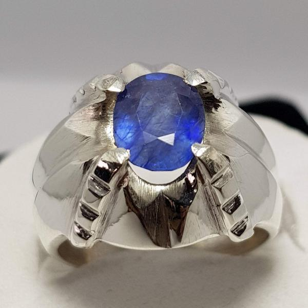 7e7c8712b Natural Blue Sapphire Ring Handmade Ring Sterling Silver Ring