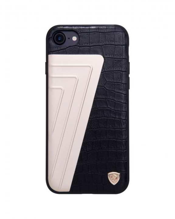 Hybrid Crocodile Leather Case For iPhone 7 - Black