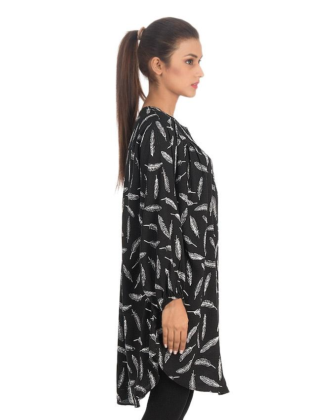 Black Linen Top for Women