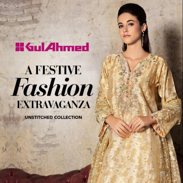 c3af80d484 GA – GA - Gul Ahmed-Summer Collection 2019 L.Beige Silk Collection-3 PC  Unstitched-SSM-15 -196033