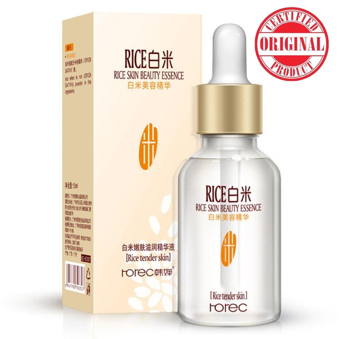 ROREC White Rice Serum Face Moisturizing Cream Anti Wrinkle Anti Aging Face Fine Lines Acne Treatment Skin Care 15ml