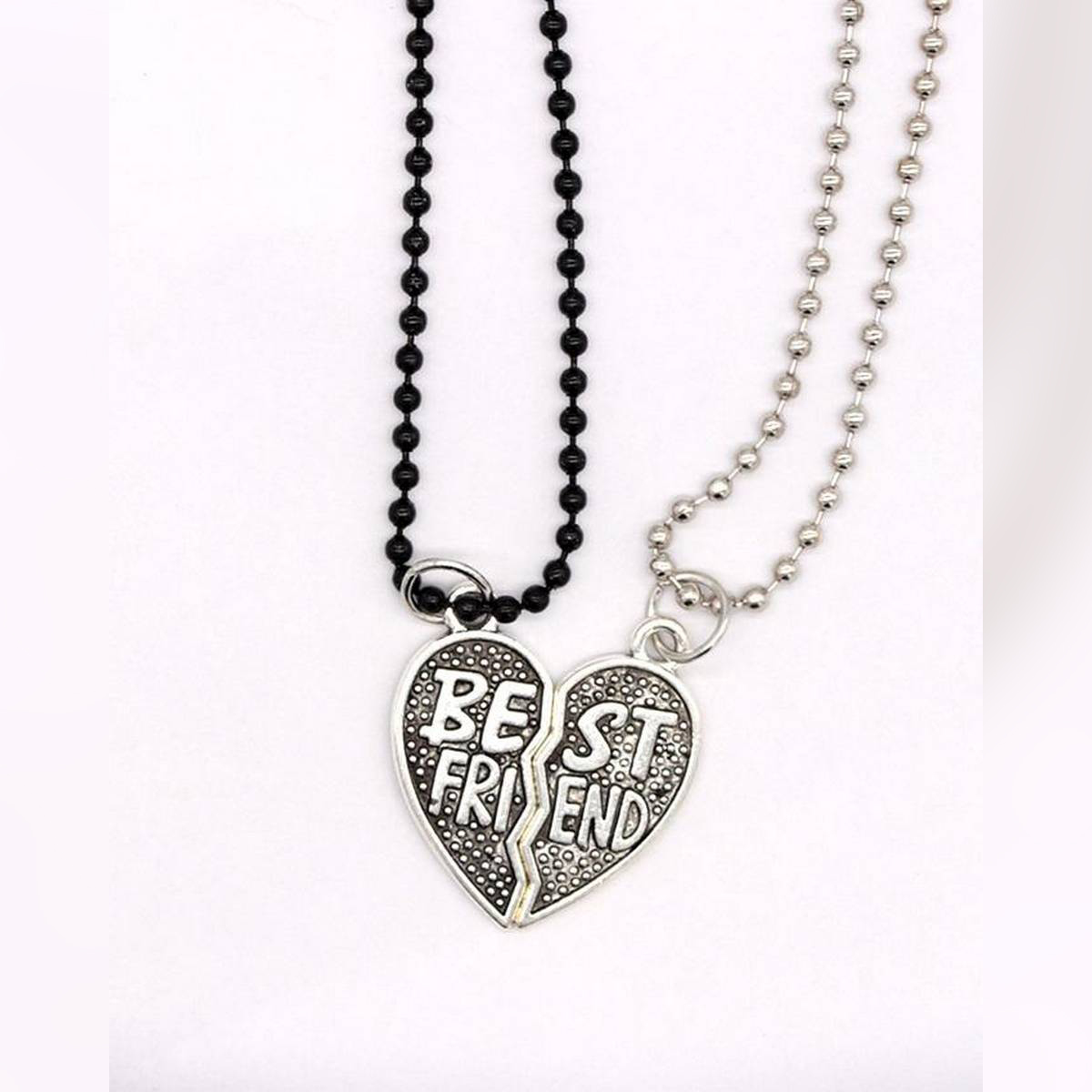 Charming best Friend Heart-shaped necklace - Silver