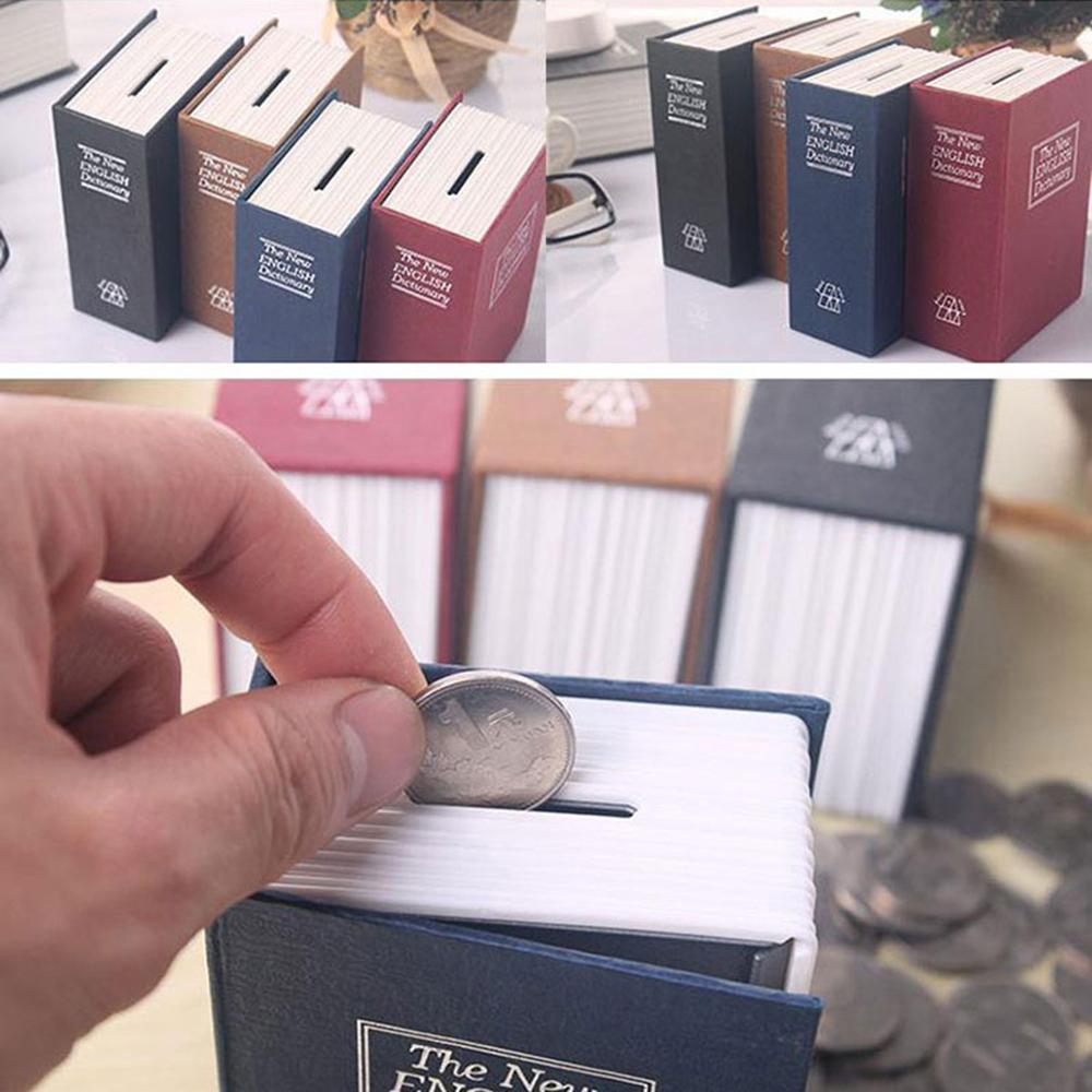 store Dictionary Mini Safe Box Book Money Hidden Secret Security Safe Lock  Cash Money Coin Storage Jewellery key Locker For Kid Gift