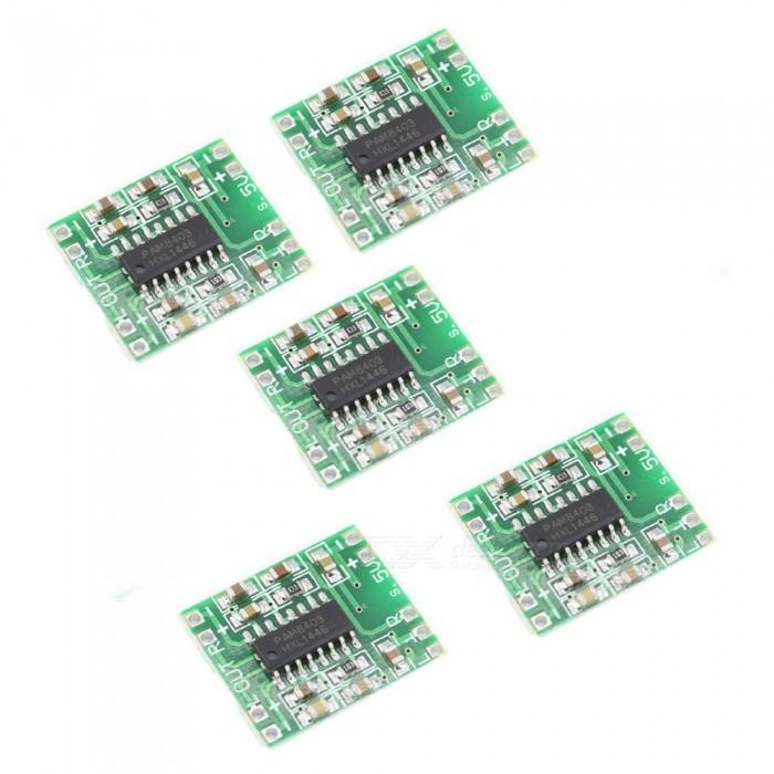 Pack of 3 PAM8403 Super Mini Digital Amplifier Board 2 * 3W Stereo Class D  Digital 2 5V To 5V Power Efficient Amplifier Module Bluetooth Stereo Audio