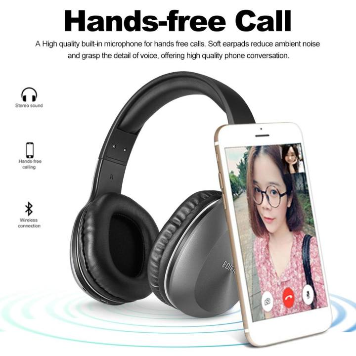 EDIFIER W806BT Wireless Bluetooth Headphones On Ear Stereo Music Headset 70 Hours Playtime with Built-in Microphone 3.5mm Wired Earphone for Smart Phone Tablet PC Other Bluetooth Devices