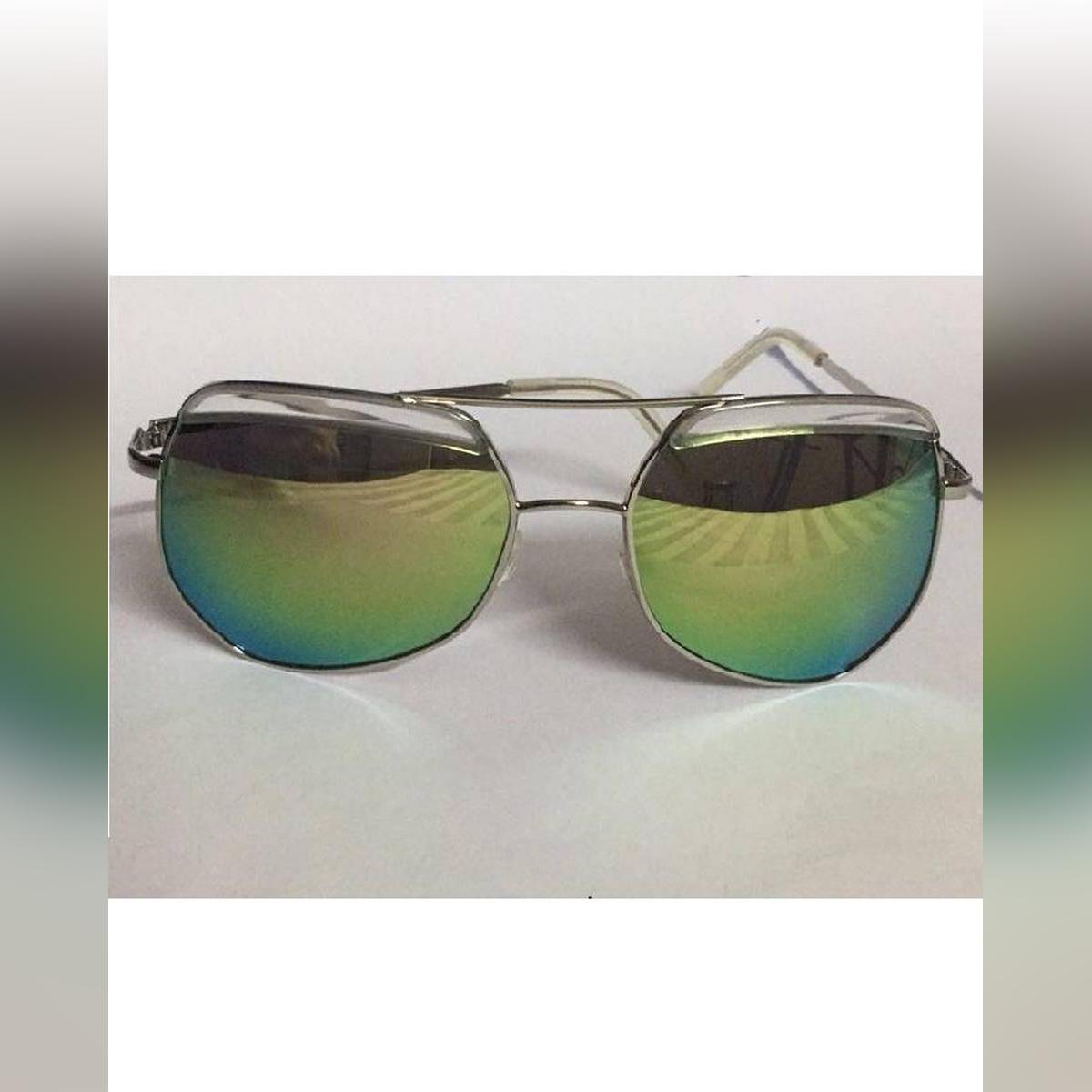 Shades Green Mirror Fashionable Sunglasses Eye Sun Glasses