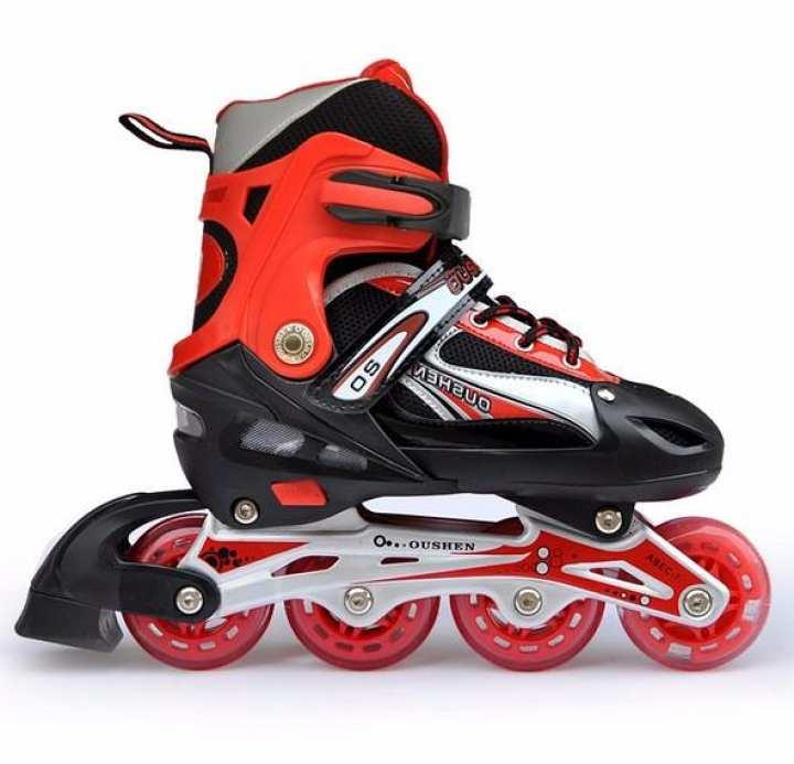 The old tree 】Adjustable Inline Skates Boys Girls Adult Skate Shoes Roller Skates Shoe Outdoor (S)