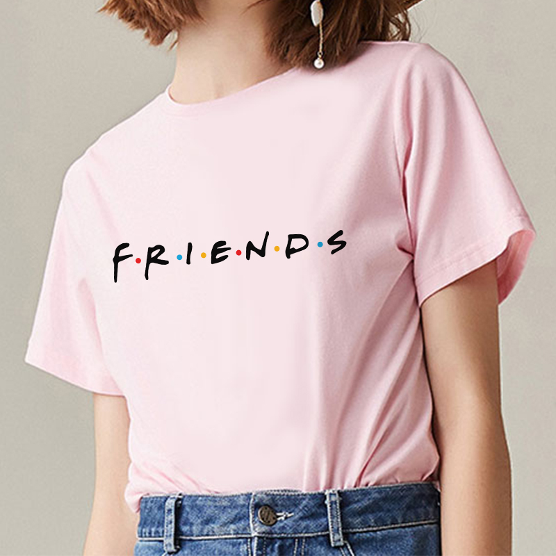 2020 NEW Arrival FRIENDS Letter T Shirt Women Tshirt Casual Funny T Shirt For Lady Girl Top Tee
