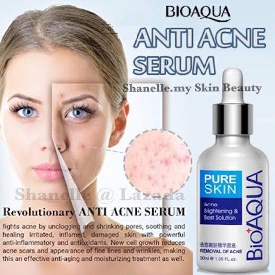 Bioaqua Pure Skin Anti Acne Serum Facial Removal Solution
