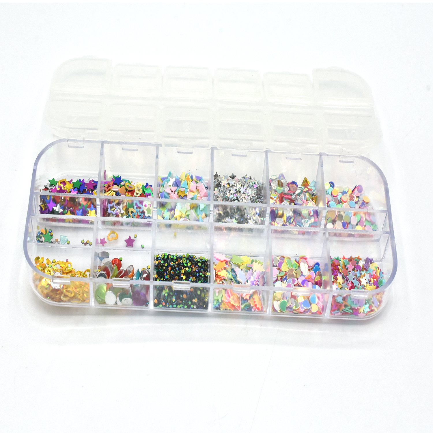 Nail Art Decorations Colorful Nail Rhinestones Beads Pearls DIY Manicure Nail Ornaments Jewelry