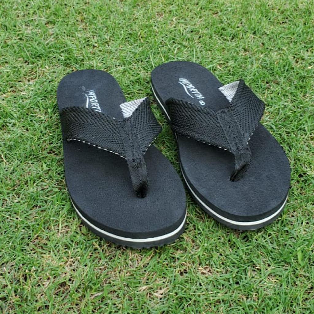 Black Importia Summer Slippers/Flipflops For Men