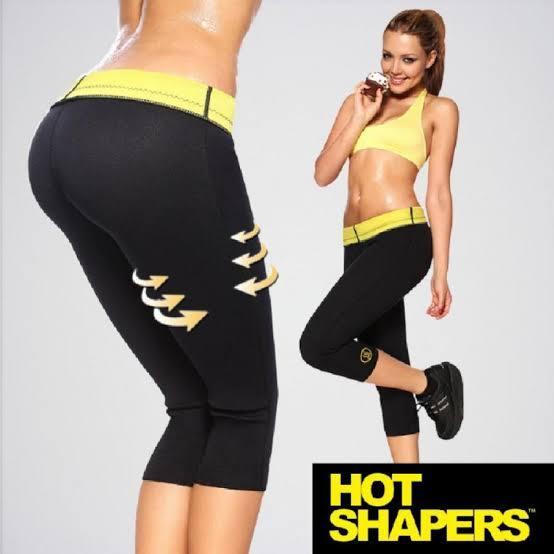 Hot Shapers Slimming Pants Man and Women Capri Slimming Black