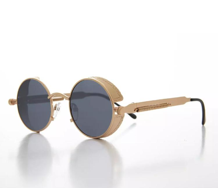 Round Black color Sunglasses, Polarized Lens Vintages Eyewear Accessories Sun Glasses For Boys/Men