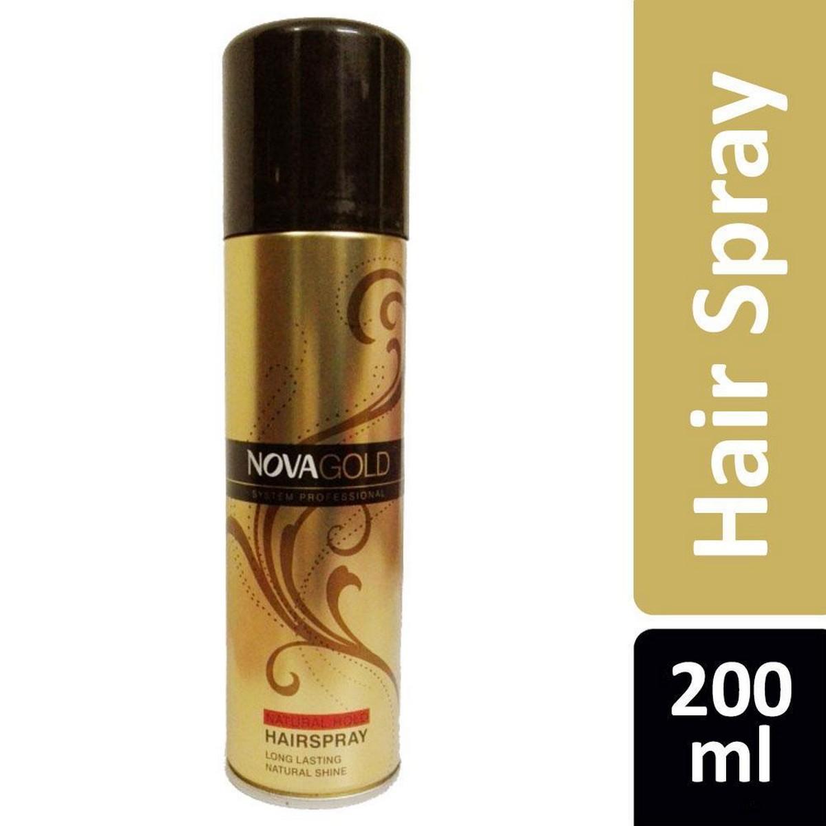 Nova Gold Hair Spray - Super Firm Hold - 200ml