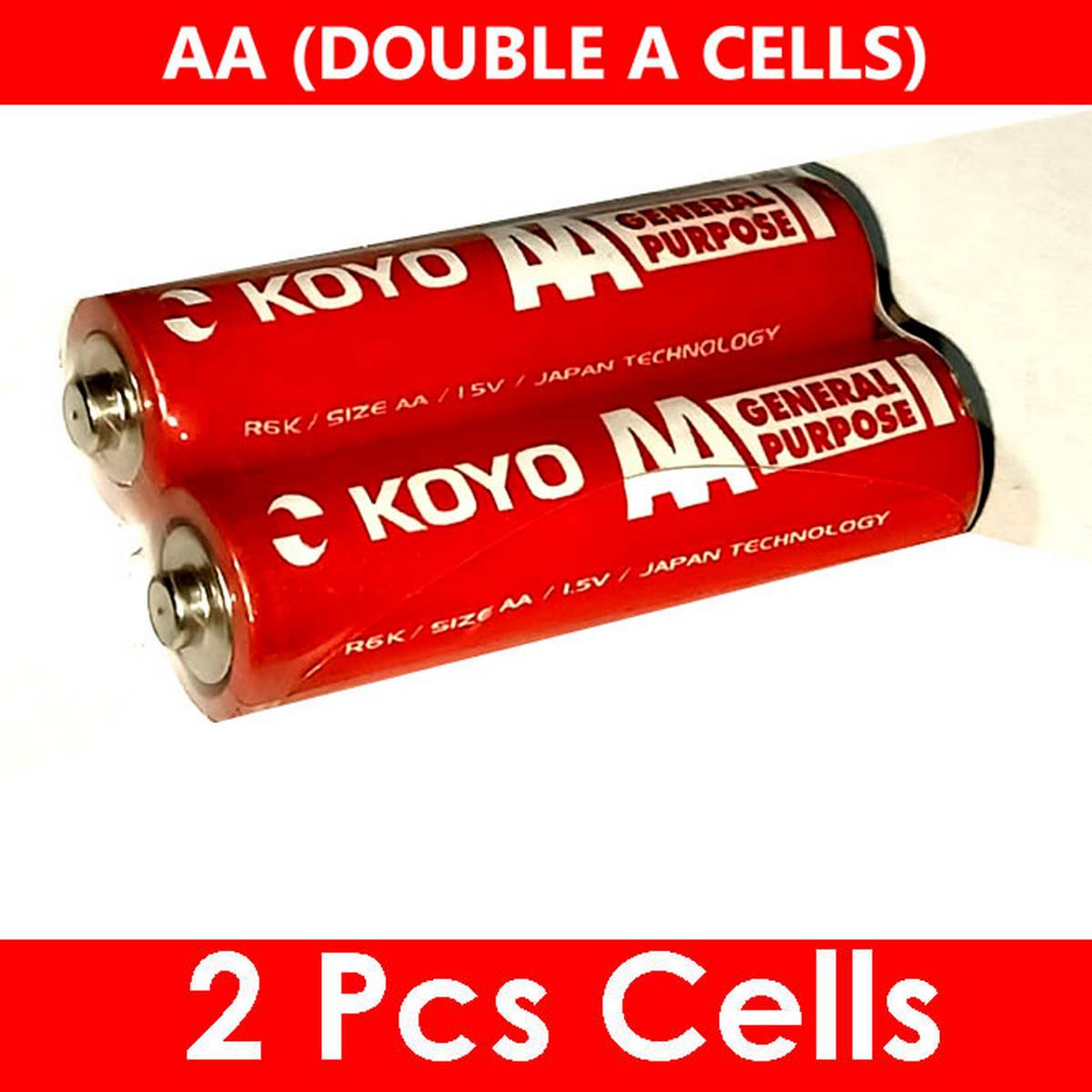 AA Cells High Quality Durable Double A Cell 2pc - for Remotes, Toys, etc.