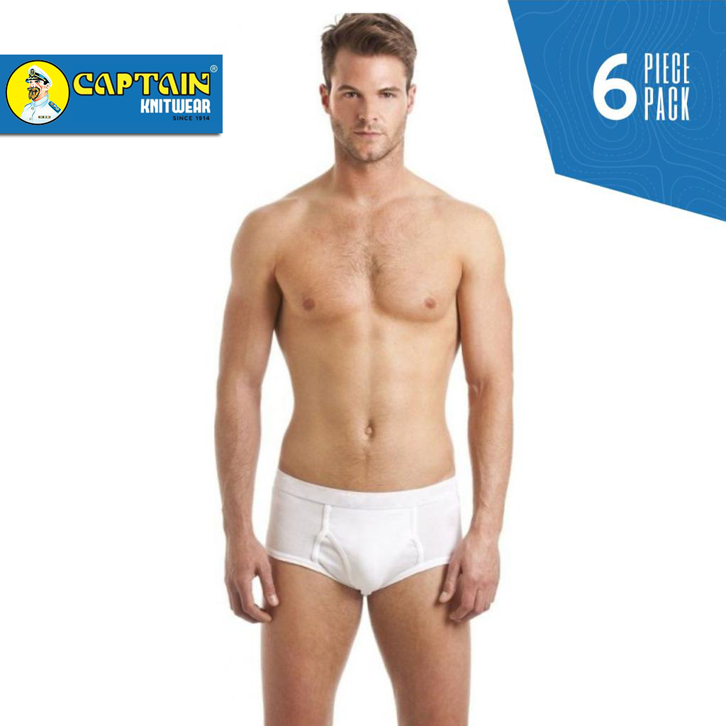 Captain Knitwear 100% Combed Cotton Men Brief - Pack of 6