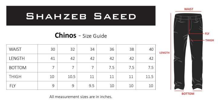 Shahzeb Saeed Black Chino 7 for Mens