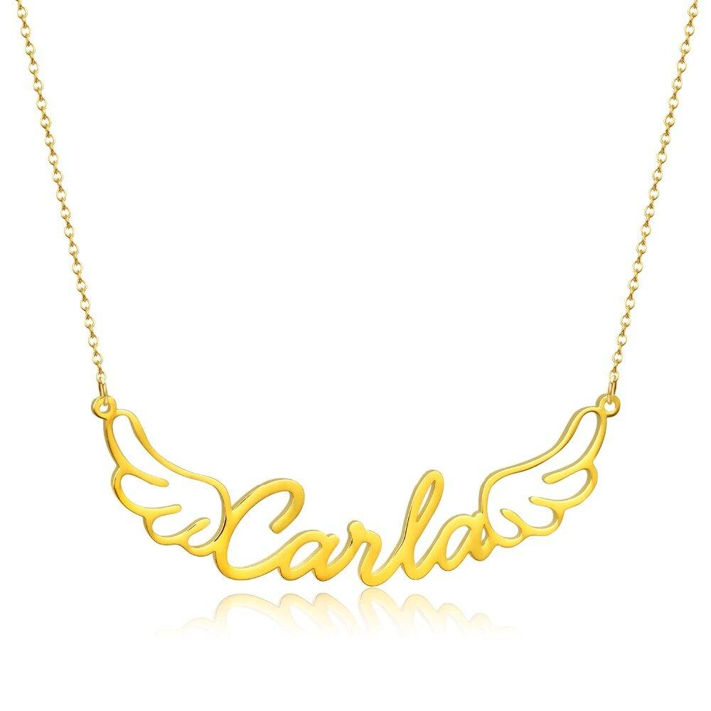 Personalized Name Necklace 18k Yellow Gold Finish Custom Made With Online Discount Jewelry & Watches