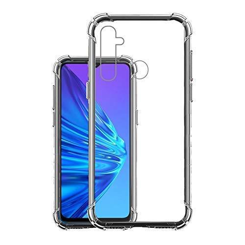 Realme_5 / 5i / 5s / 6i ShockProof Anti-Burst Scratch Proof Transparent TPU Mobile Back Case