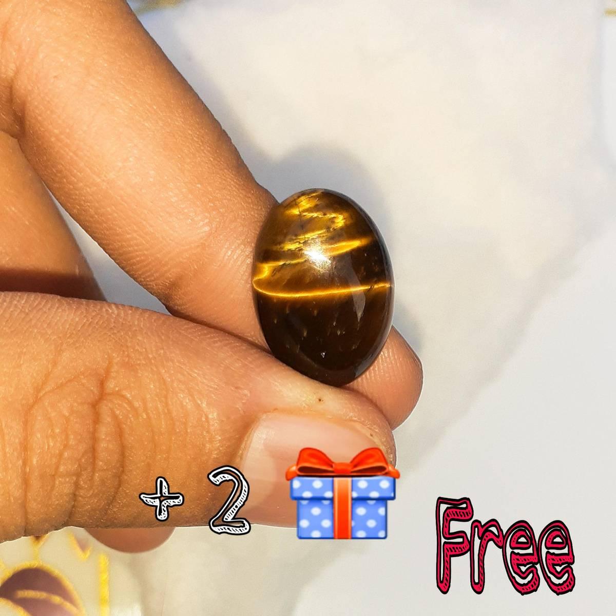 Tiger eye stone Weight 14.5 carat Gems Stone