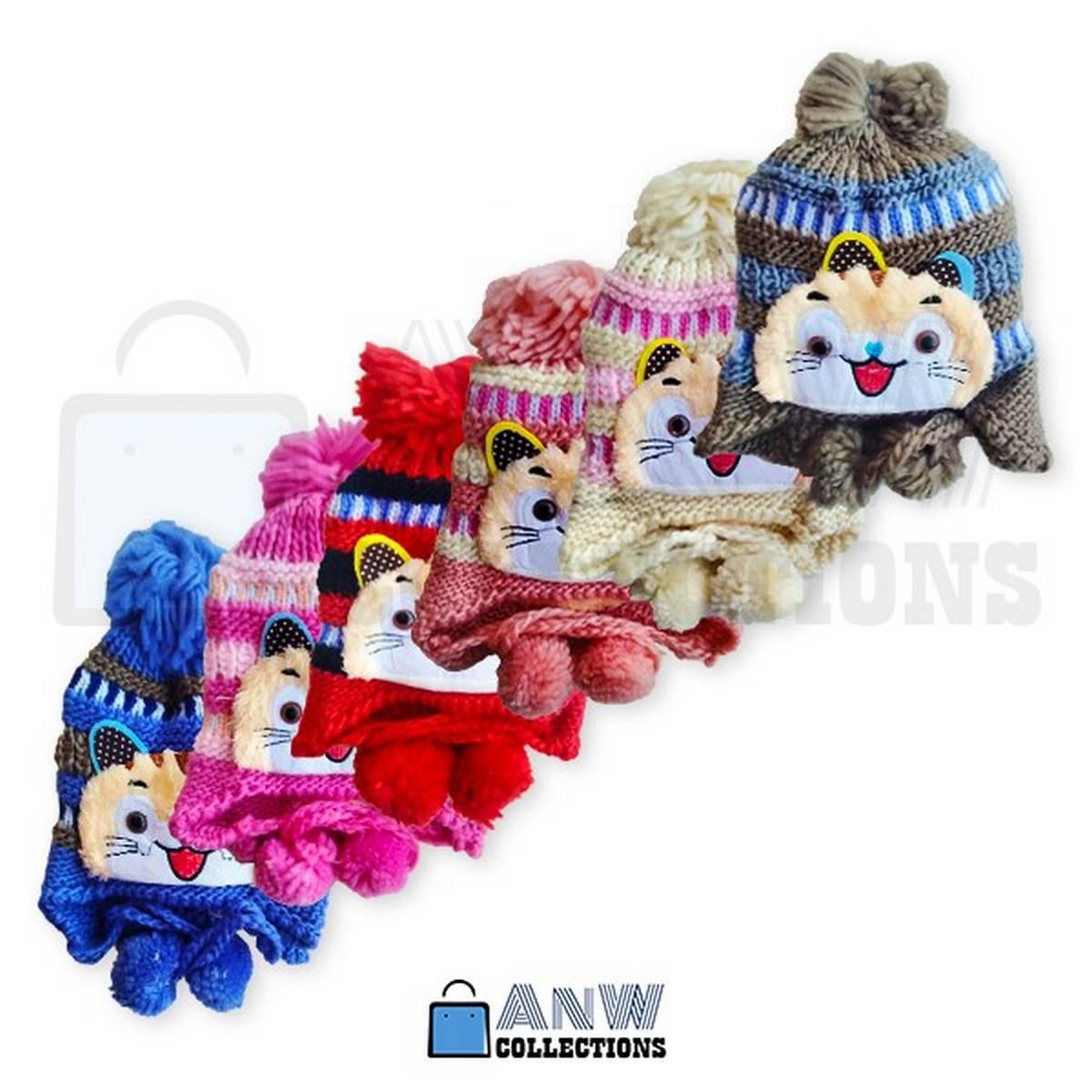 Winter Kitty Cap for kids ( 3 to 10 yrs. children)