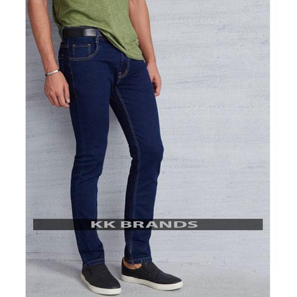 Blue Stretchable Narrow Denim Jeans For Him
